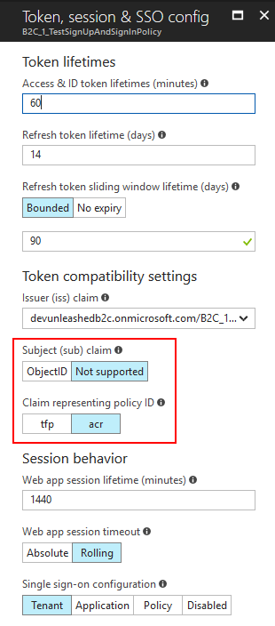 Additional policy settings