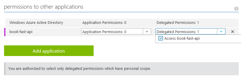 Adding a delegated permission in Azure AD as a non-admin user