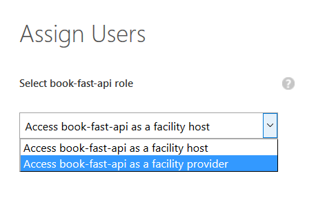Assigning a user to an app role in Azure AD