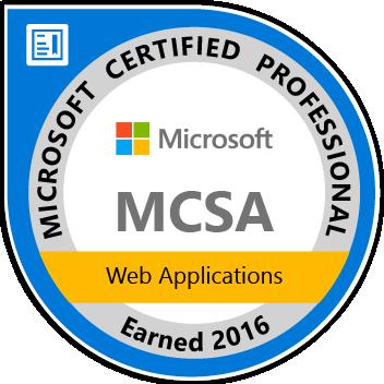 MCSA Web Applications Logo